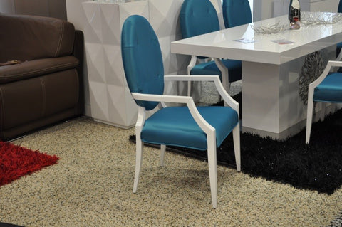 Emma Turquoise Fabric Dining Chair