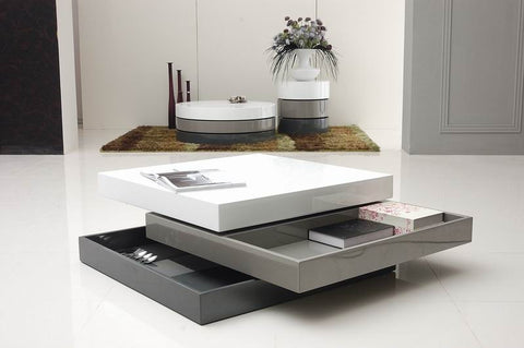 Trio 2 Modern 3-Tone Square Coffee Table