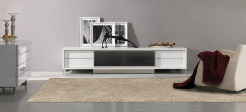 Brighton White or Black Entertainment Center