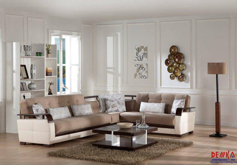 Contemporary Demka Sectional (Color Option)