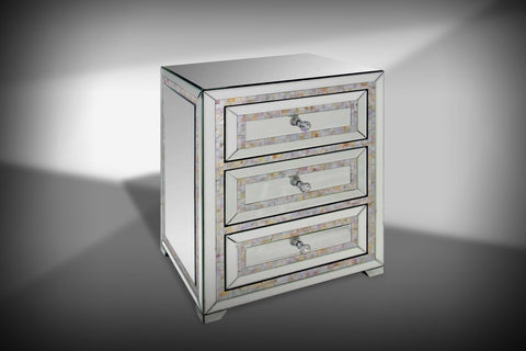 Modrest Mirabelle Mirrored Nightstand