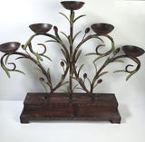 5 Candle Holder Metal