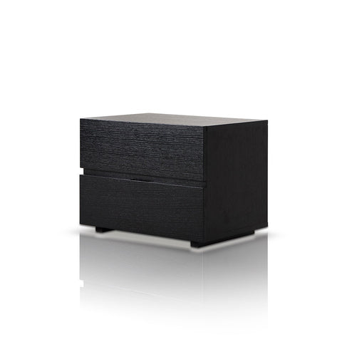 Logan - Modern Black Oak Nighstand