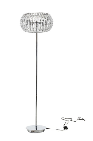 Modrest Dorothea Stainless Steel and Crystal Floor Lamp