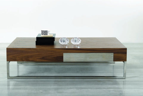 Agate Modern Walnut Coffee Table