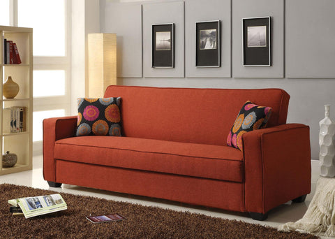 Shani Linen Adjustable Sofa W/Storage and Pillows
