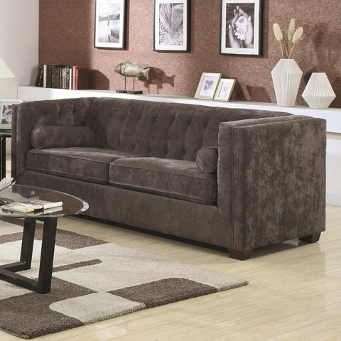 Alexis Transitional Chesterfield Sofa with Track Arms