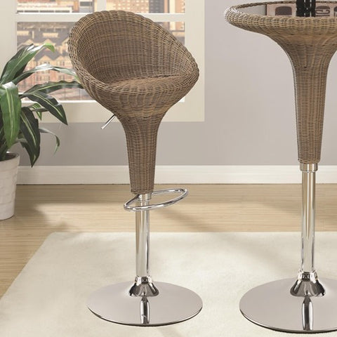 Adjustable Bar Stool w/ Chrome Base