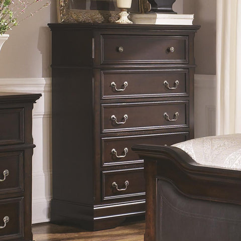 Cambridge 5 Drawer Chest with Bracket Feet