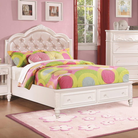 buy online ad3af d6bba Caroline Twin/Full Size Bed w/ Diamond Tufted Headboard ...