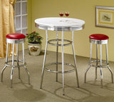 Cleveland Chrome Plated Soda Fountain Bar Stool (PACK OF 2)