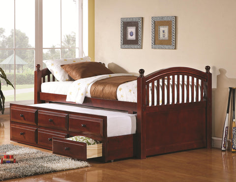 Captain's Twin Daybed with Trundle and Storage Drawers
