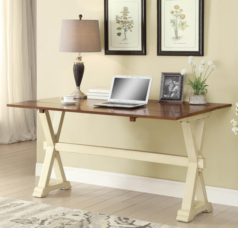Flip Top Writing Desk with Trestle Base