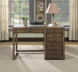 Single Pedestal Desk with File Drawer