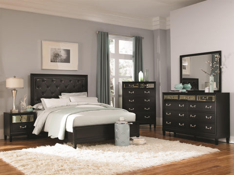 Devine 6 Drawer Chest Featuring Glass Front Panel on Drawers