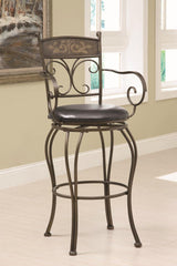 "29"" Decorative Metal Barstool"
