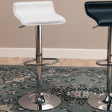 "29"" WHITE/BLACK Bar Chair with Adjustable Height (Pack of 2)"