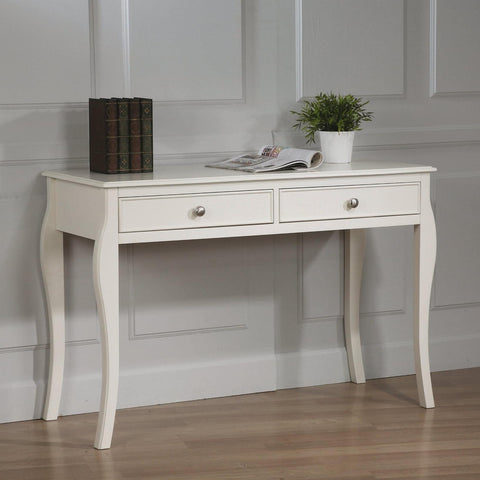 Dominique Table Desk w/ 2 Drawers
