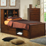 Hillary and Scottsdale Twin Bookcase Bed with Underbed Storage