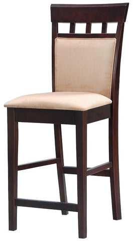 "Mix & Match 24"" Upholstered Panel Back Bar Stool with Fabric Seat (Pack of 2)"