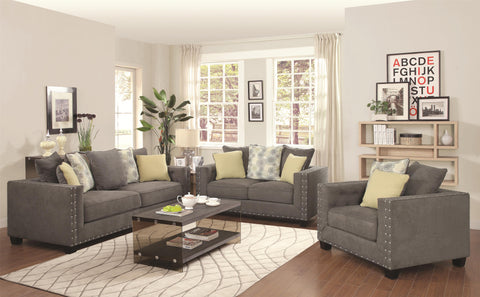 Kelvington Tuxedo Sofa with Nail Head Trim