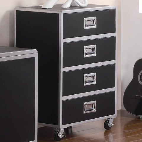 LeClair 4 Drawer Chest with Casters