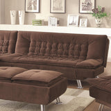 Lyell Sofa-Sized Futon with Tufted Microvelvet Upholstery