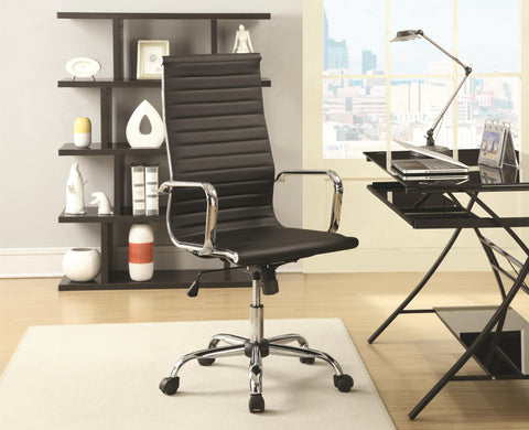 Sleek High Back Office Chair with Adjustable Height