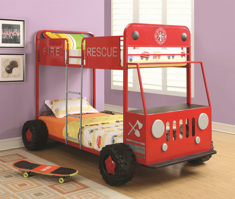 Twin Over Twin Fire Rescue Bunk Bed