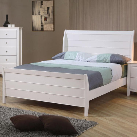 Selena Sleigh Bed with Panel Detail
