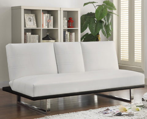 Contemporary Sofa Bed with Chrome Legs