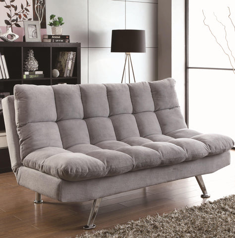 Grey Teddy Bear Fabric Sofa Bed