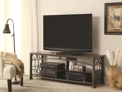 Traditional Media Console with Decorative Ornamental Sides