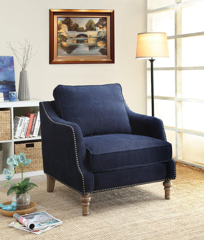 Vessot Transitional Chair with Nailhead Studs and Feather Cushion - Empire Furniture Home Decor & Gift