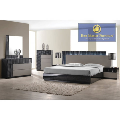 Romania Bedroom Collection - Black & Zebra Grey
