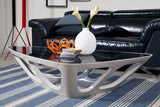 Modrest Mica Contemporary Grey Gloss Coffee Table