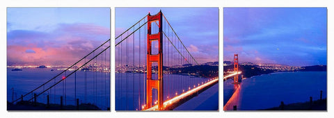 San Francisco 3-Panel Acrylic Painting