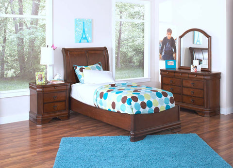 Sheridan 4-pc Youth Panel Bedroom Set in Spice
