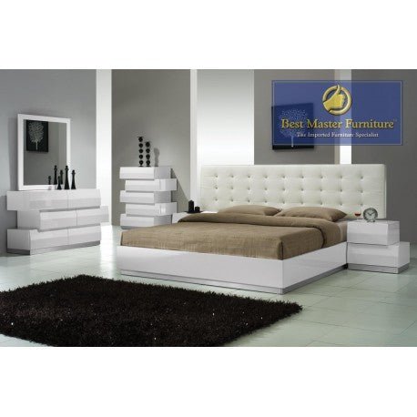 SPAIN 5-Piece Bedroom Set in White Lacquer