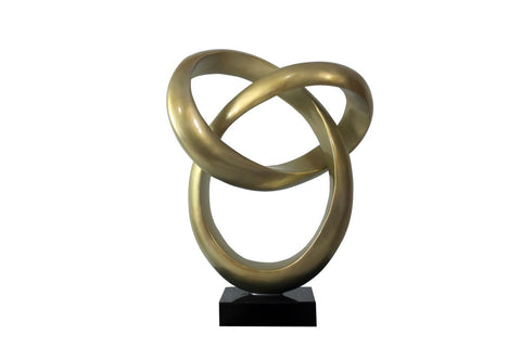 Halo Modern Gold Sculpture