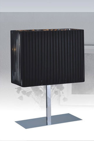 Modrest Diane Modern Black and Stainless Steel Table Lamp