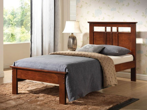 Donato Capuccino Wood Twin Bed