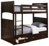 Jasper Twin Bunk Bed with Under Bed Storage Drawers
