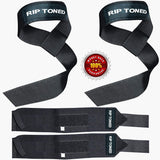Lifting Straps & Wrist Wraps Combo Pack - Rip Toned