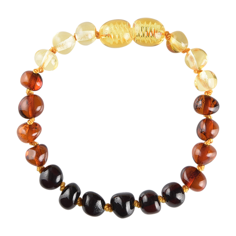 Baltic Amber Baby Bracelet - Polished Rainbow