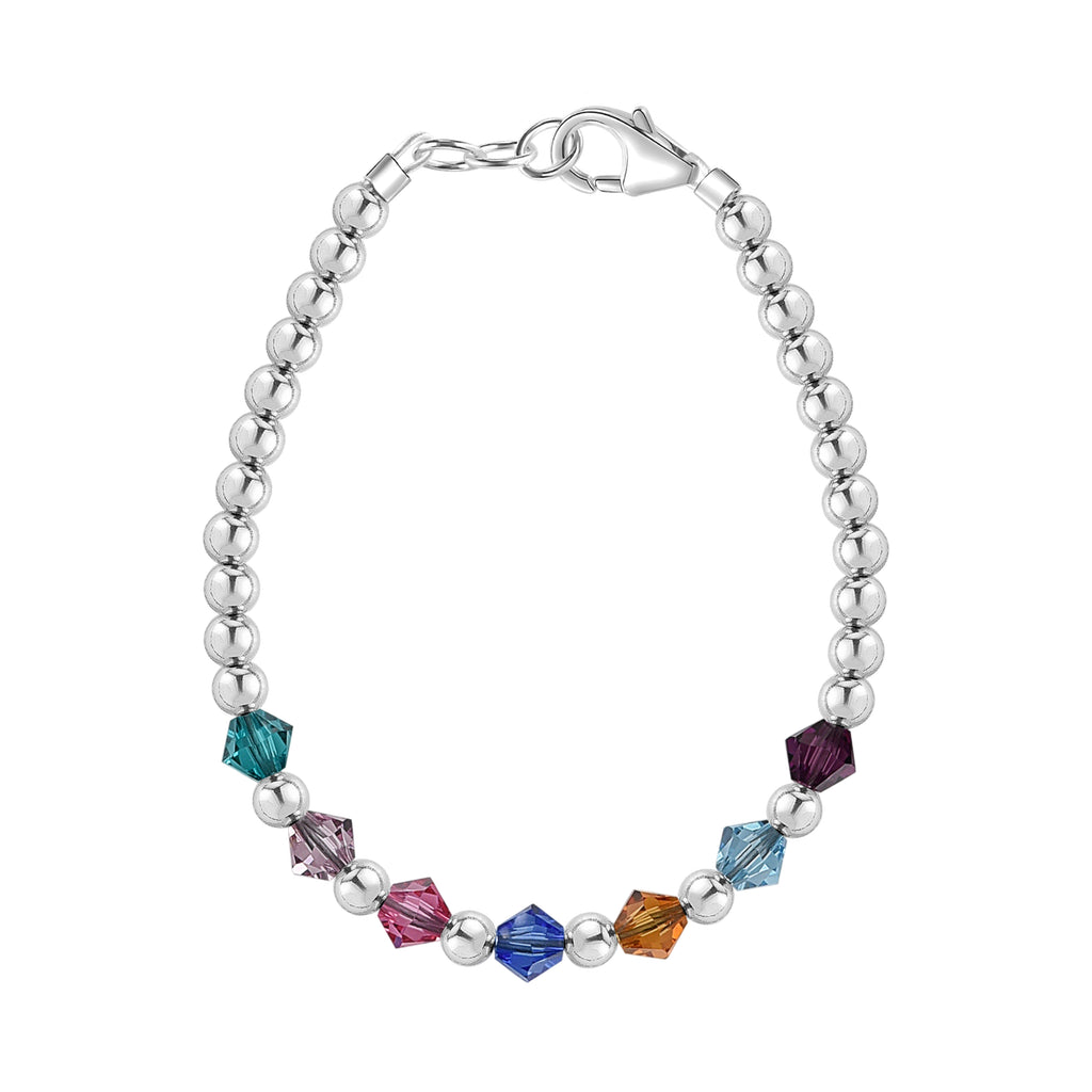 Birthstone Collection - Custom Sterling Silver Middle Accent Bracelet