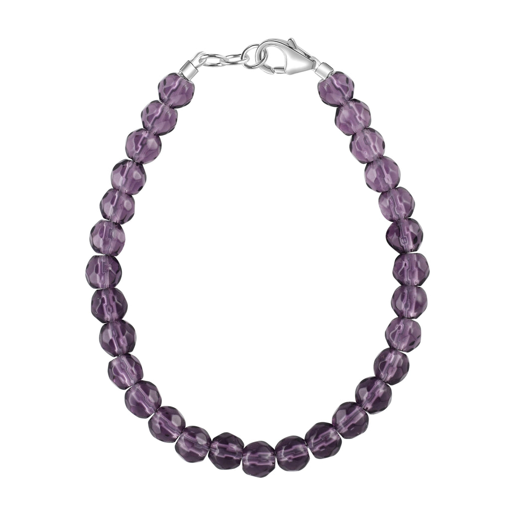 Amethyst Purple Agate 4mm Bracelet