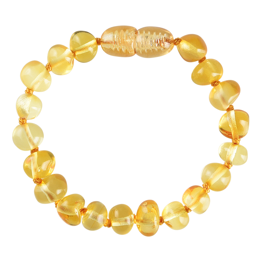Baltic Amber Baby Bracelet - Polished Lemon