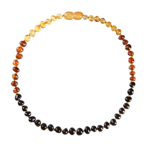 Baltic Amber Baby Necklace - Polished Rainbow