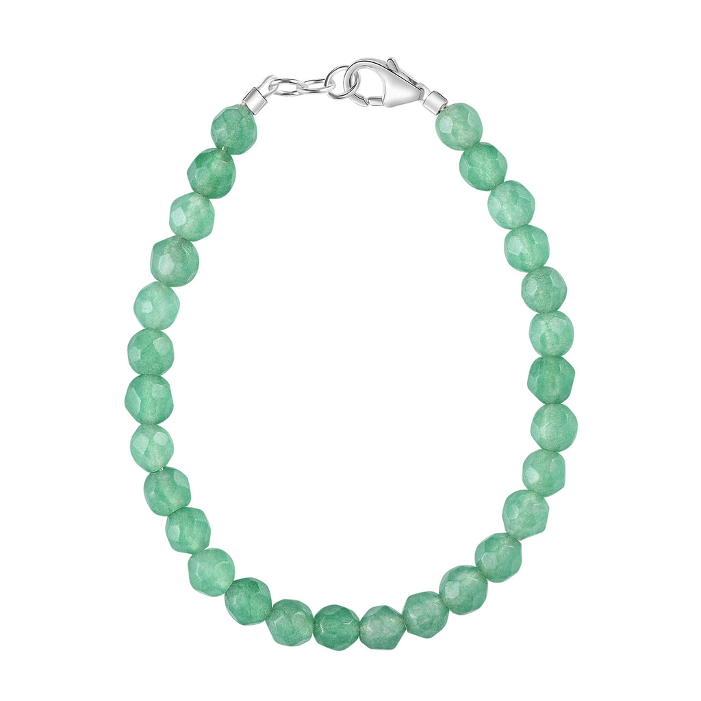 Kelly Green Agate 4mm Bracelet